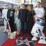 Pictured: Mark Hamill and family.