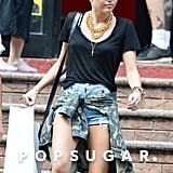 Miley Cyrus dramatically switched up her 'do in August, and just a few days after the change, she took her new locks along for a day out shopping in NYC.