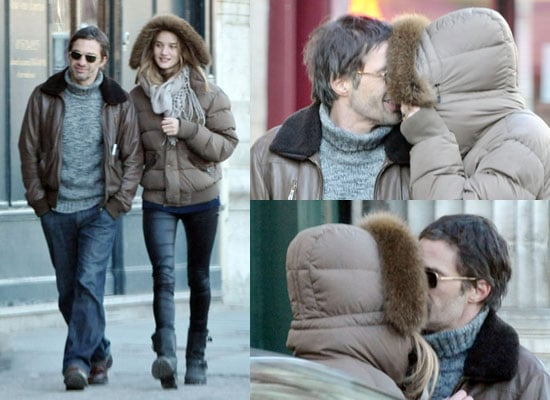 Photos of Olivier Martinez and Rosie Huntington-Whiteley Kissing