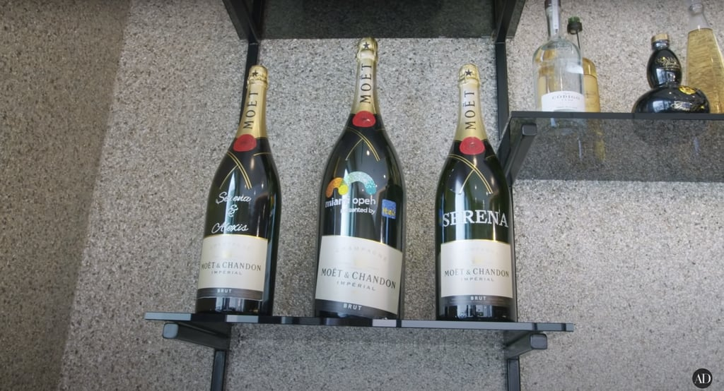 And of course, some sentimental champagne bottles.