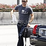 Dad-to-be Curtis Stone at LAX.