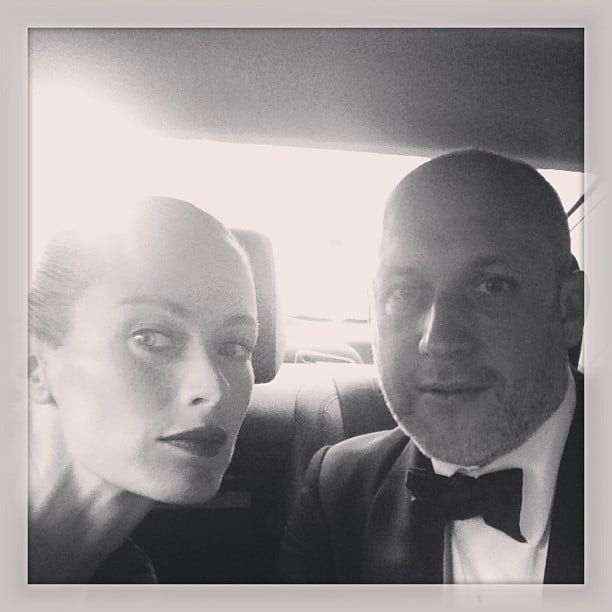 Carolyn Murphy and Peter Copping made their way to the event in style. Source: Instagram user carolynmurphy