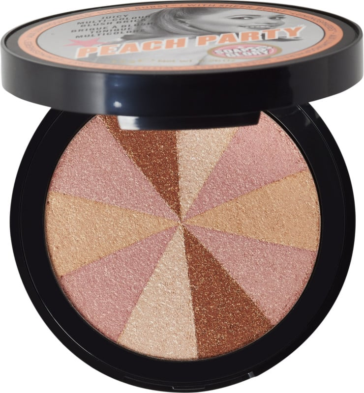 Soap and Glory Peach Party ($15) contains multiple sunny hues that give the wearer a luminous glow.