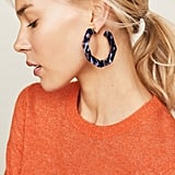 BaubleBar Octagon Hoop Earrings
