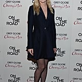 Kirsten Dunst in Navy Dior Coat Dress