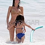 Stephanie Seymour and her daughter, Lily, went swimming together.