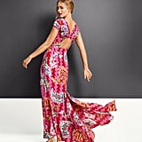 Zac Posen for Target Women's Safety-Pin Print Cap Sleeve V-Neck Maxi Dress in Magenta