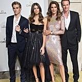 Kaia Gerber Wears Philosophy di Lorenzo Dress to Omega Event