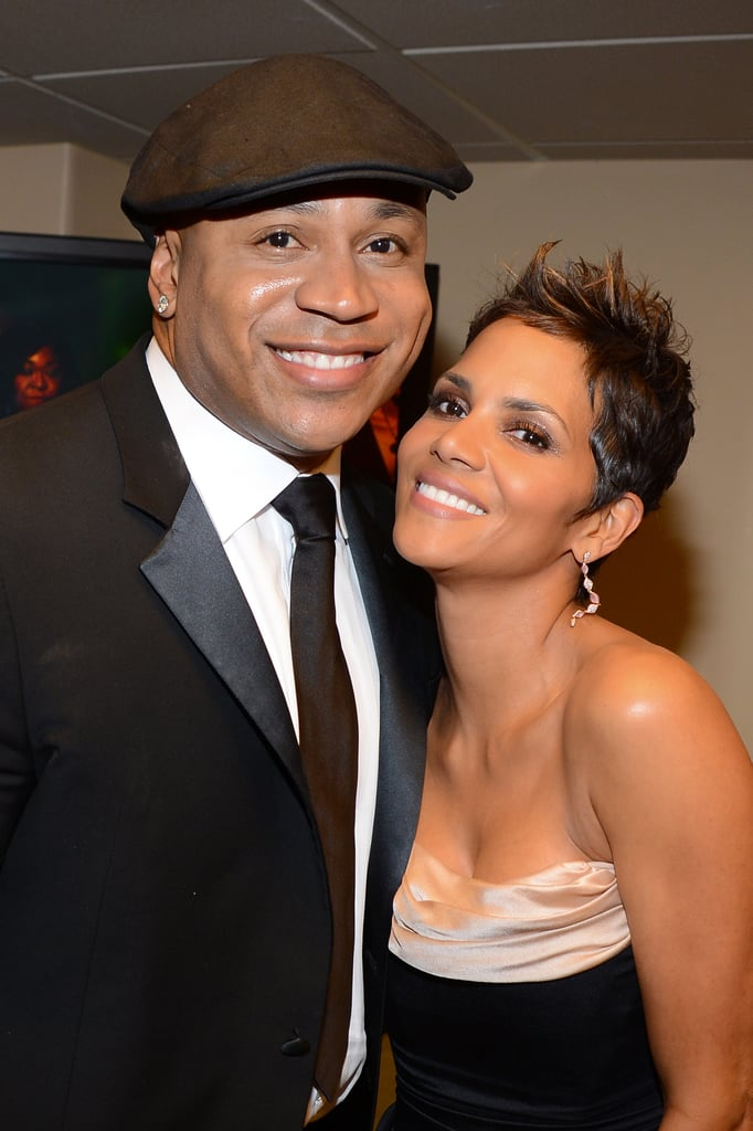 Halle Berry linked up with L.L. Cool J. at the  NAACP Image Awards in LA.