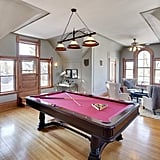 This room has everything you need, including a pool table.