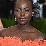 Lupita Nyong'o Wearing Bright Makeup