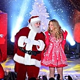 "She performed ""All I Want For Christmas Is You"" alongside Santa Claus at NBC's tree lighting at Rockefeller Center in NYC in 2012."
