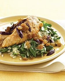 Fast and Easy Recipe for Chicken with Spinach Rice
