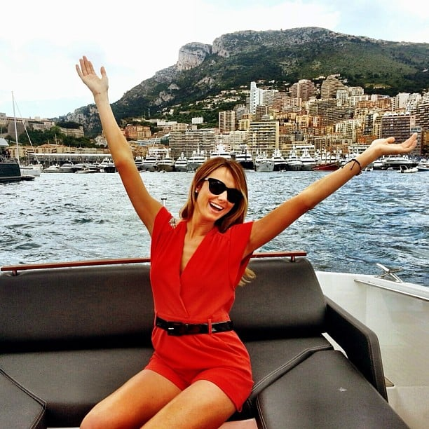 Stacy Keibler got into the boating spirit during a trip to Monaco. Source: Instagram user stacykeibler