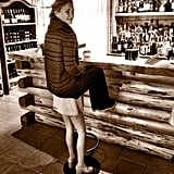 Bar Refaeli stopped at a bar in June and snapped a photo on an unusual stool.  Source: Instagram user barrefaeli