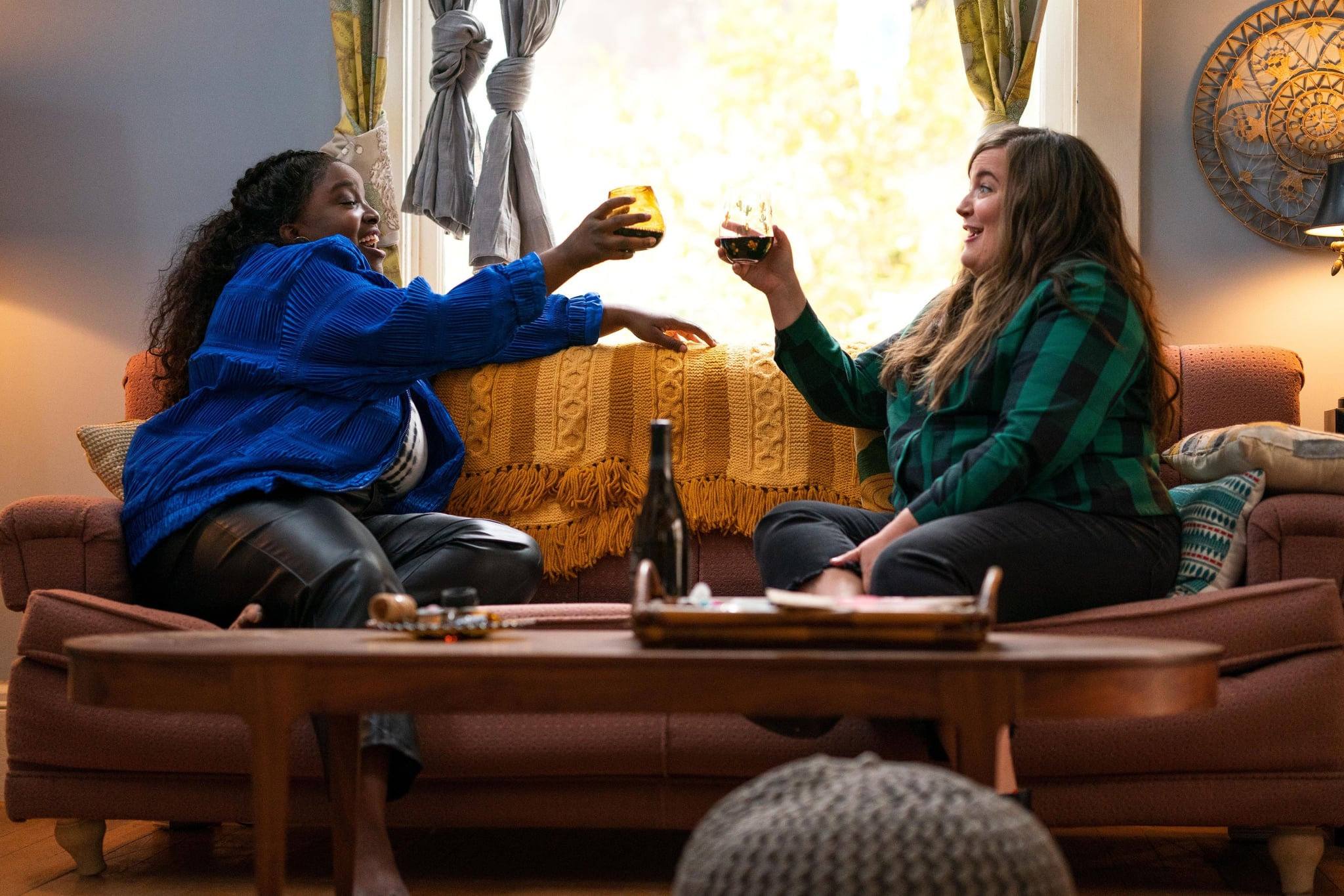 SHRILL, from left: Lolly Adefope, Aidy Bryant, (Season 3, ep. 303, aired May 7, 2021). photo: Allyson Riggs / Hulu / Courtesy Everett Collection
