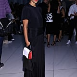 She Knows When to Let Her LBD Stand Out, Accessorising Only With a Red Lip and Clutch