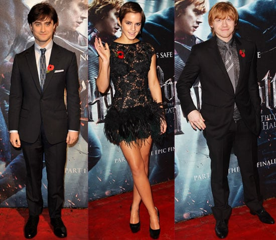 Pictures of Emma Watson, Rupert Grint, Daniel Radcliffe at Harry Potter and Deathly Hallows Part I Premiere in London