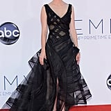 Mad Men's January Jones stood out on the red carpet.