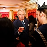 Prince Charles held down the fort at Buckingham Palace on Thursday, where he launched a new youth campaign.