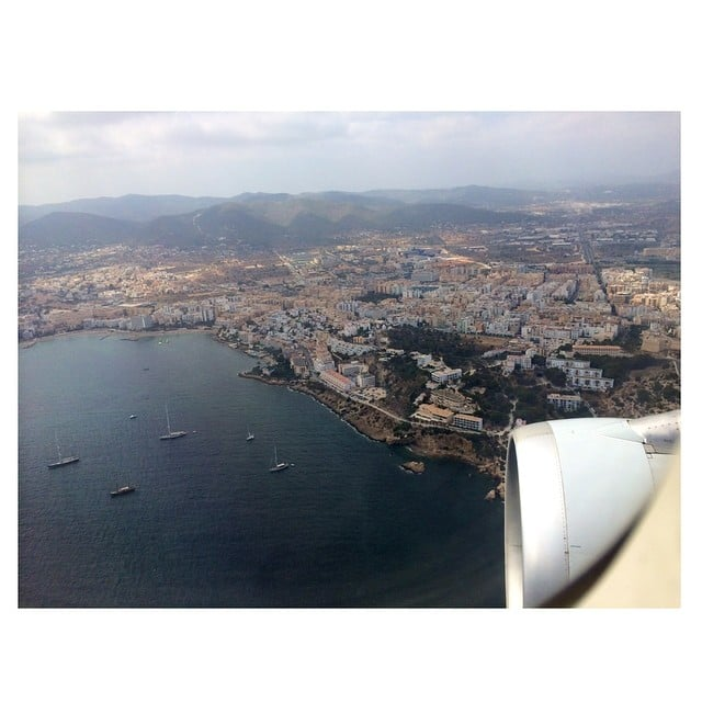 Kim shared the view from her seat on the plane.  Source: Instagram user kimkardashian