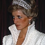 Princess Diana Wearing Blue Eyeliner in 1989