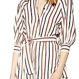 Topshop Stripe Tie Waist Shirt