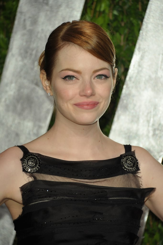 Emma Stone at the Vanity Fair party.