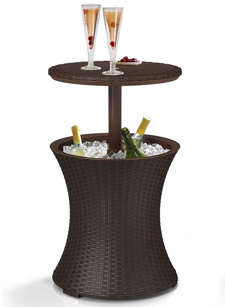 Rattan-Style Outdoor Patio Cooler Table