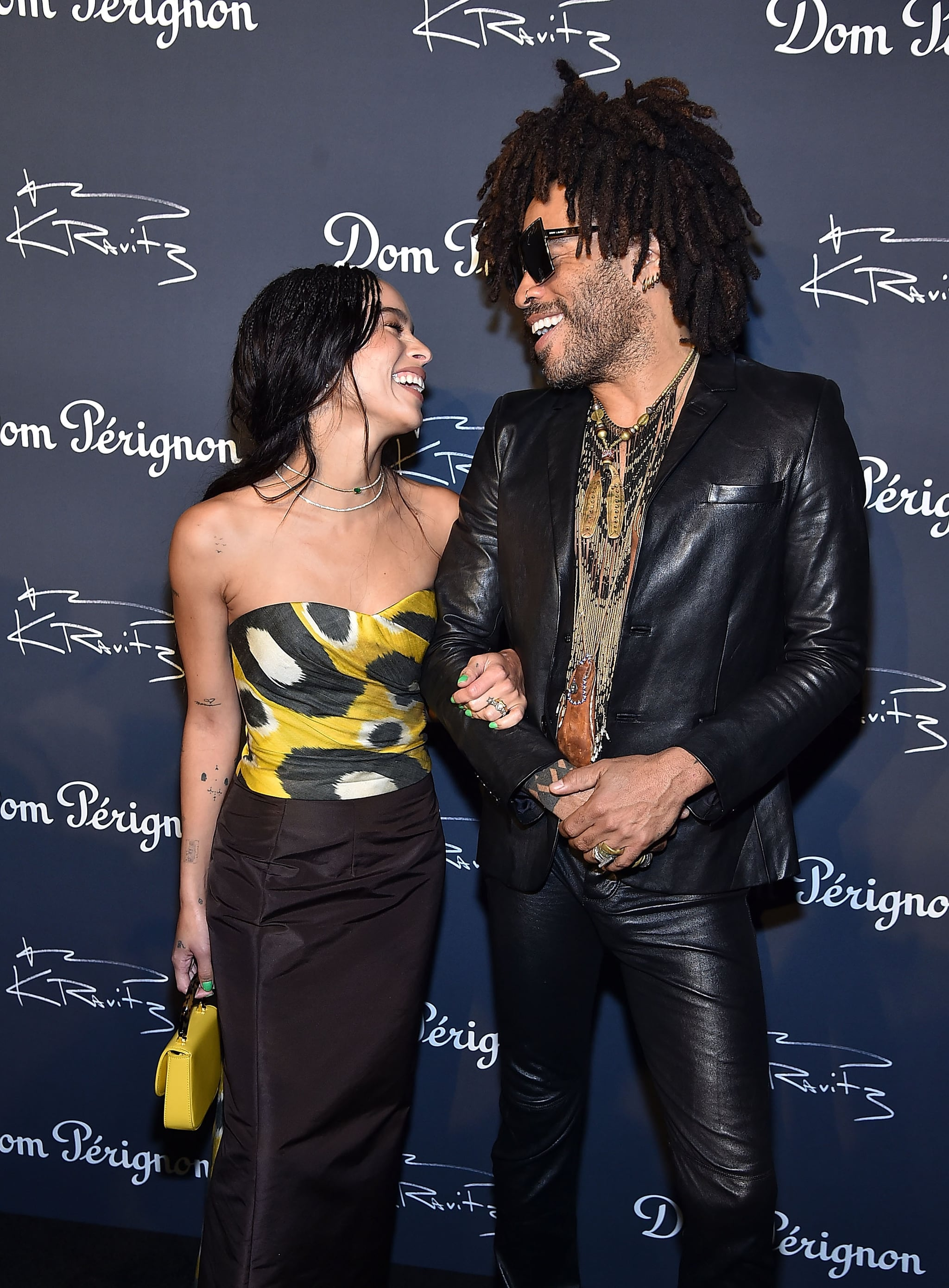 NEW YORK, NY - SEPTEMBER 28:  Zoe Kravitz and Lenny Kravitz attend the Dom Perignon & Lenny Kravitz: 'Assemblage' Exhibition at Skylight Modern on September 28, 2018 in New York City.  (Photo by Theo Wargo/Getty Images)