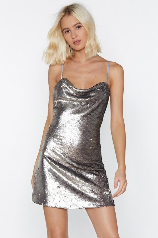 Nasty Gal Waking Up in Vegas Sequin Dress