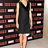 Gwyneth Paltrow wore black and white for a photo call in London.
