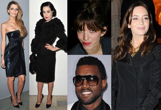 Photos of Lou Doillon, Emily Blunt, Kanye West, Mischa Barton, Dita Von Teese at Paris Haute Couture Shows