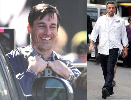 Photos of Jon Hamm and Ben Affleck Filming The Town in Boston