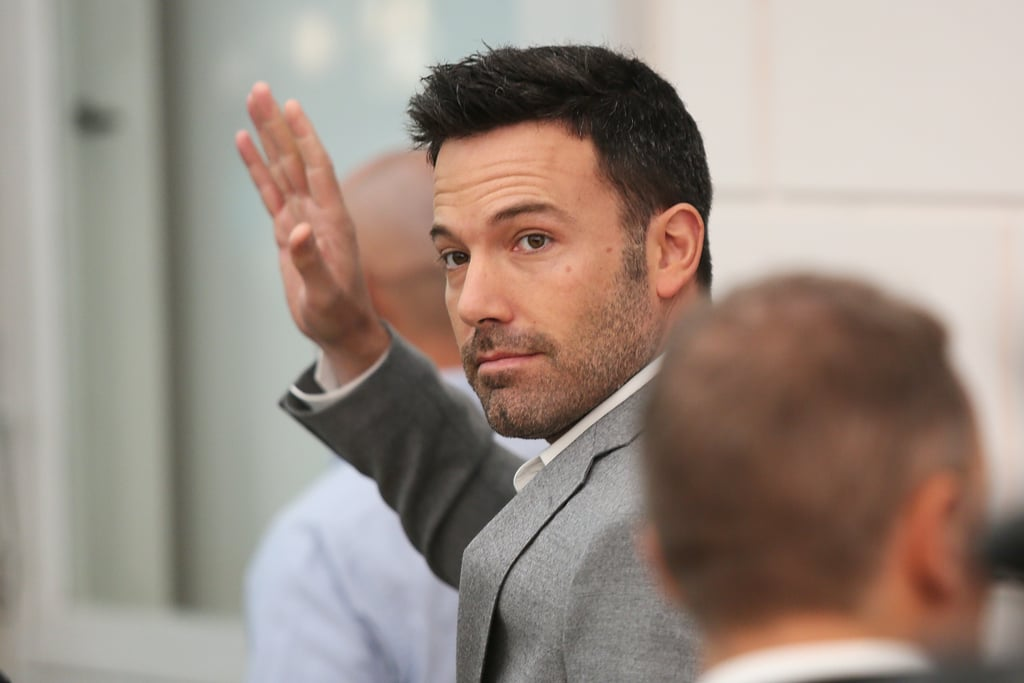 Ben Affleck waved to fans in Rome