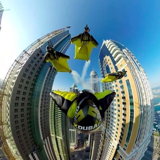 XDubai 360-Degree Wingsuit Jump