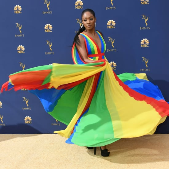 Tiffany Haddish Rainbow Dress by Prabal Gurung at 2018 Emmys
