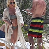 Jessica Simpson and Eric Johnson in the Bahamas April 2018