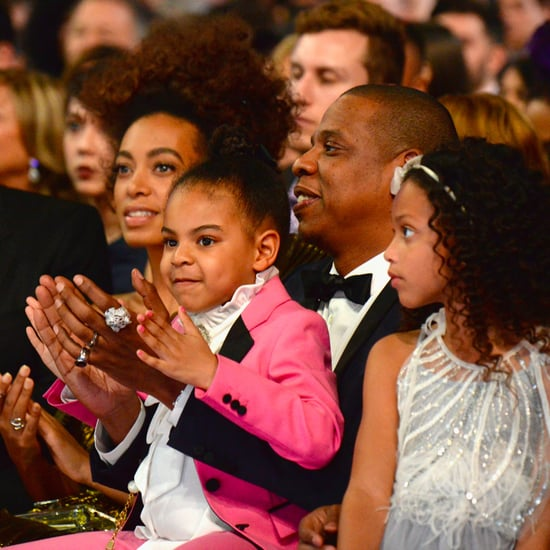 Jay Z and Blue Ivy Reacting to Beyonce's Grammys Performance