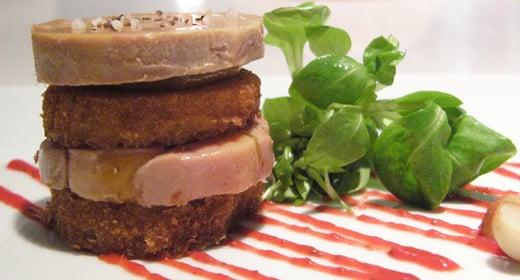"Yummy  Link: PB & J Foie Gras ""Sandwich"""