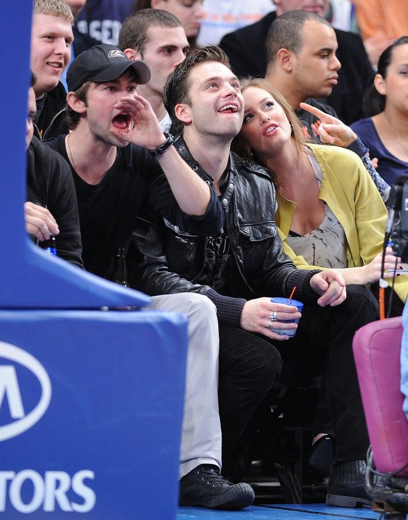 Gossip Girl at the Knicks Game NYC