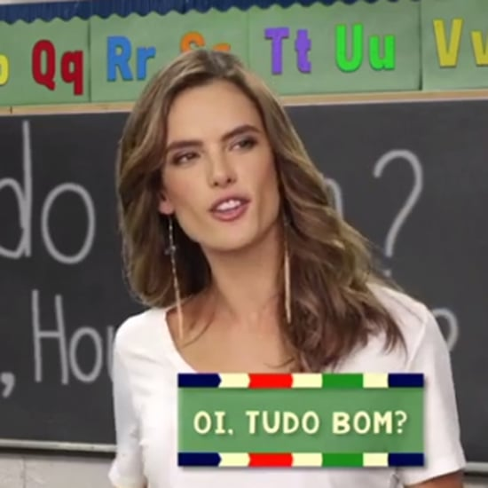 Alessandra Ambrosio Teaching Olympians Portuguese | Video