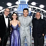 Paul Feig, Emilia Clarke, Henry Golding, and Ron Meyer at the Last Christmas Premiere