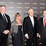 Australian Ambassador to USA, Kim Beazley, and Australian Minister for Communications, Malcolm Turnbull, with guests.