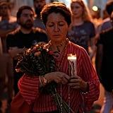 The impromptu vigil was held on Aug. 13.