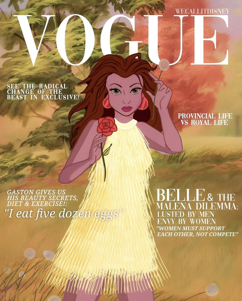 This Artist Gave Disney Princesses Their Own Vogue Covers