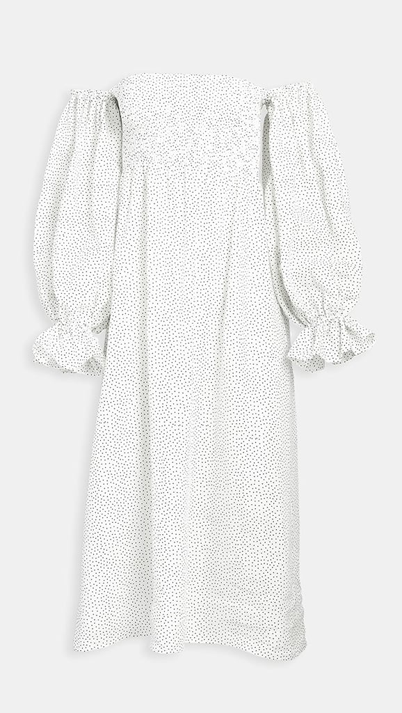Sleeper Atlanta Linen Dress in Micro Polka Dot