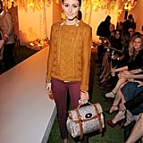 Olivia Palermo was front row at the Mulberry show during LFW.
