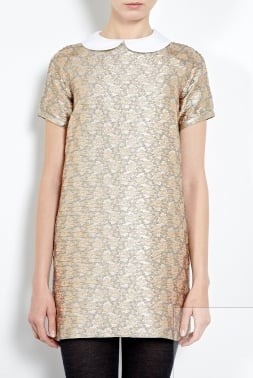 Say hello to your perfect all-occasion holiday dress find. While the gold finish dresses it up, the sweet neckline on this Paul & Joe Sister Gold Brocade Dress With Detachable Collar ($296) ensures you'll be appropriately attired, even at family gatherings.