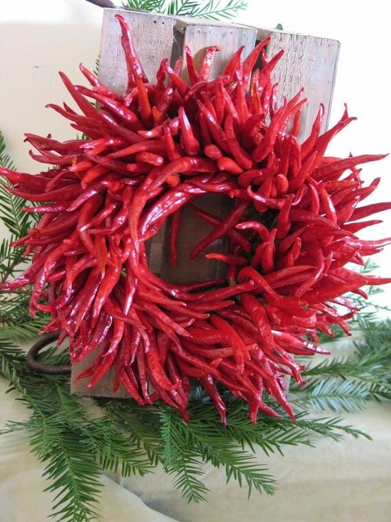 Organic Chili Wreath